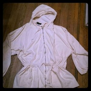 Cinched lightweight hooded jacket